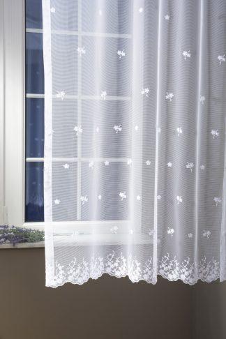 Franciska hímzett tüll fényáteresztő függöny - fehér