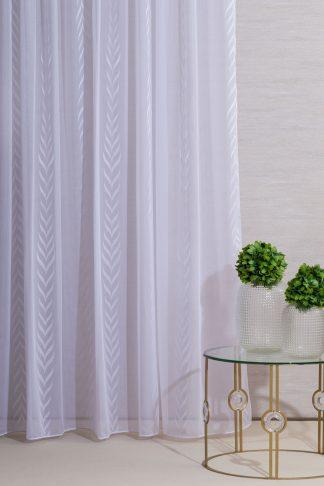 Hedvig fényáteresztő függöny - fehér
