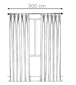 Kétoldalra húzható függöny